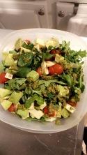 Chopped Caprese Salad with Pesto and Avocado